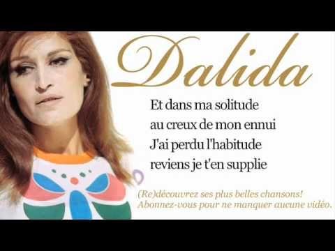 Dalida - J'ai rêvé - Paroles (Lyrics)