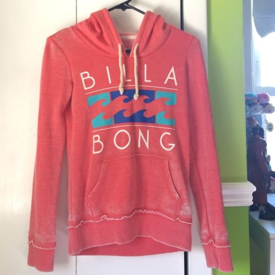 Billabong hoodie Size xs. Worn a lot, but still in great condition. PacSun Tops Sweatshirts & Hoodies