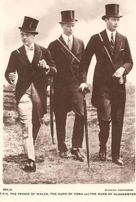 vintage-royalty:    David, Bertie, and Henry at the races.