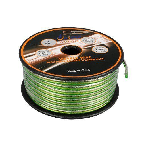 Aurum Cables 14 Gauge Transparent PVC Speaker Wire - 100 feet by Aurum Cables. $17.99. 100-foot, 14-Guage Speaker Wire connects speakers to your A/V receiver or amplifier.