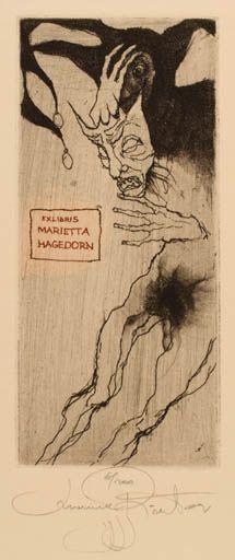 Art-exlibris.net - Bookplate by Marina Richter (1999) for Marietta Hagedorn : : Klaus Rödel (cassette: 66 No. 5)