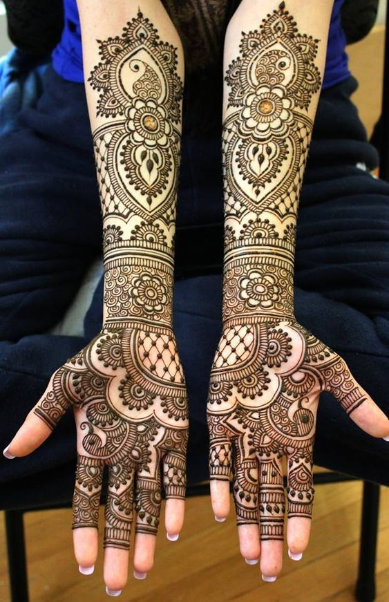 Detailed Bridal Mehndi Design