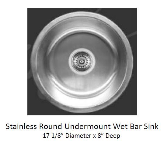 Standard Bar Undermount Single Bowl Sink 769 3230 Single Bowl Sink Wet Bar Sink Bar Sink