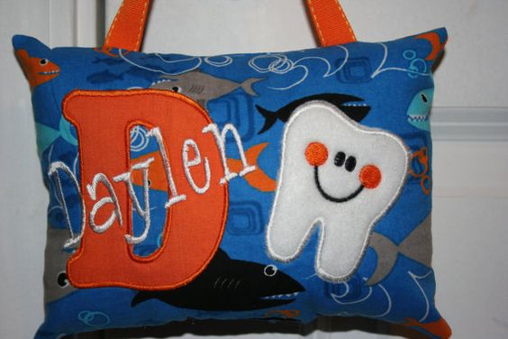 Hey, I found this really awesome Etsy listing at https://www.etsy.com/listing/166370474/boys-tooth-fairy-pillow-personalized