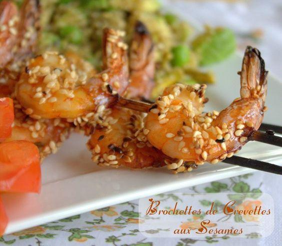 bonjour tout le monde, plus facile et meilleur que cette recette, va être un defit. Ces brochettes de crevettes grillèes aux sésames sont un vrai délice. Les crevettes sont marinées dans une trés delicieuse marinade parfumée aux gingembre, ail, et poivron piquant, arrosée d'un bon filet d'huile de sésames et sauce soja… pour plus de ...