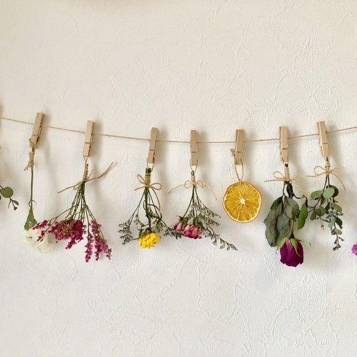 Comment Faire Un Bouquet De Fleurs Sechees Esprit Laita Decoration Murale Creative Diy Objet Deco Fleurs Sechees