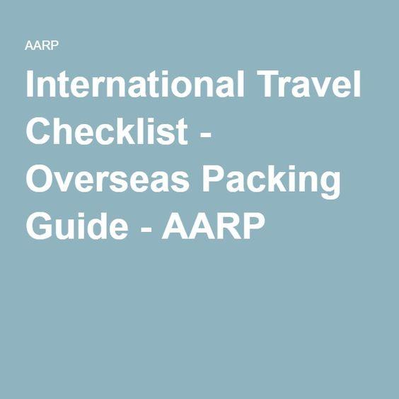 International Travel Checklist - Overseas Packing Guide - AARP