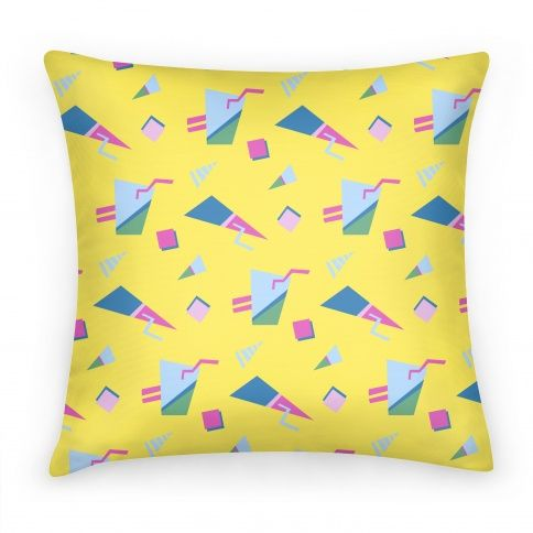 Yellow 80s/90s Pattern #pillow #80s #90s #90skid #90spattern #80spattern #80skid