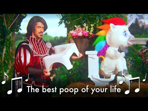 This Unicorn Changed the Way I Poop - #SquattyPotty - YouTube  WATCH IT. JUST WATCH IT!!!!!!