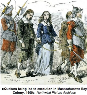 Image result for quaker persecution images