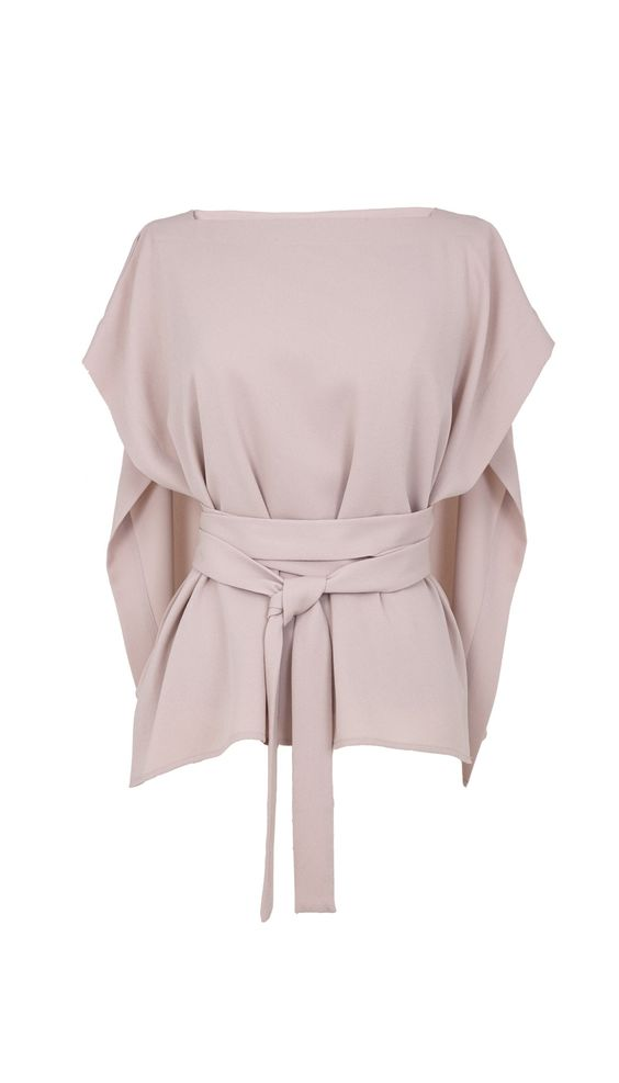 I'm in love!!! Tibi Savanna Crepe Front Tie Cape Top, $375; tibi.com   - ELLE.com