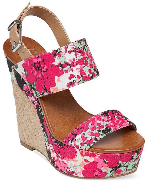 Jessica Simpson Anika Espadrille Platform Wedge Sandals - Espadrilles - Shoes - Macy's