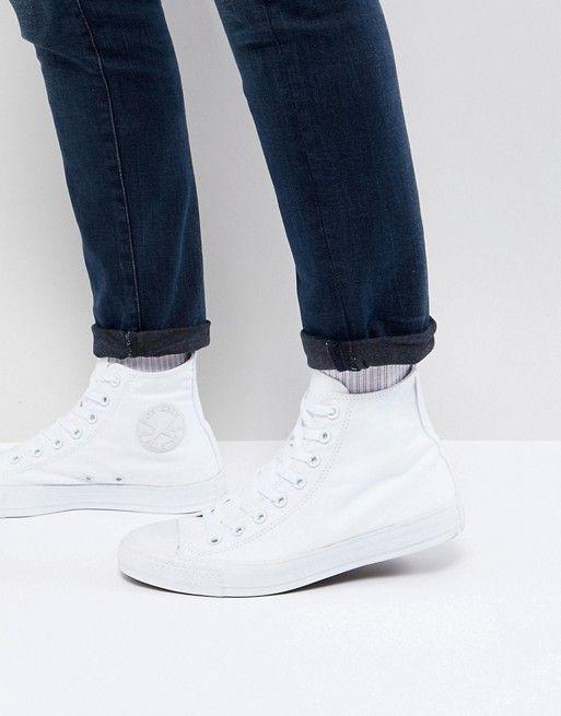 Converse All Star Hi plimsolls in white 1u646   Shoes in