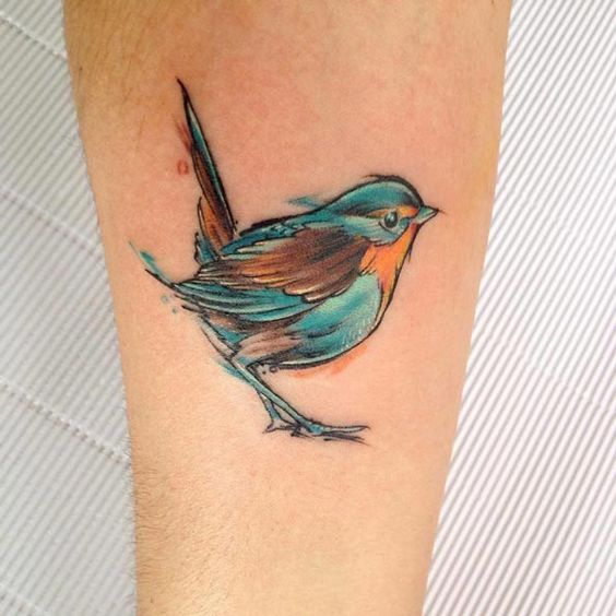 Songbird Tattoo by Adrian Bascur