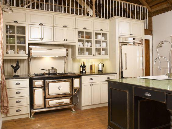 Cuisine moisson du pass armoire de cuisine de style - Modele de cuisine champetre ...