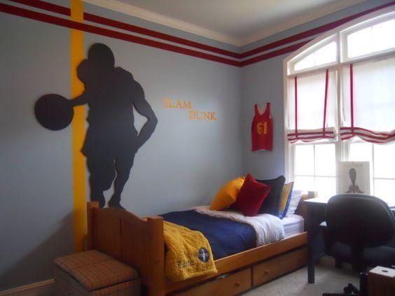 Basketball dream kids bedroom ideas for boy 39 s rooms for Basketball bedroom ideas