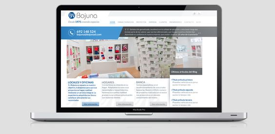 Diseño de marca y de web corporativa para Bojuna SL.