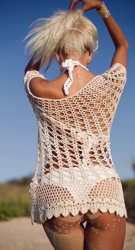 Crochet Summer Tunic Crochet Top Crochet by RavvinskaCrochets