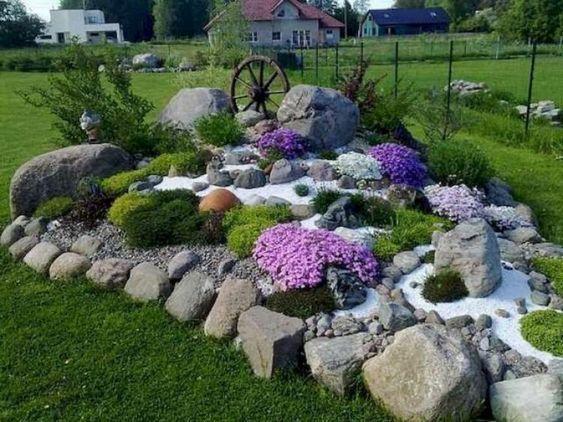 Un Aiuola Da Giardino Con Le Pietre 16 Idee Fai Da Te Da