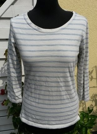 Kaufe meinen Artikel bei #Kleiderkreisel http://www.kleiderkreisel.de/damenmode/pullis-and-sweatshirts-three-fourths-armlig/106872886-blauweissgestreiftes-34-arm-shirt-von-woman-gr-3638