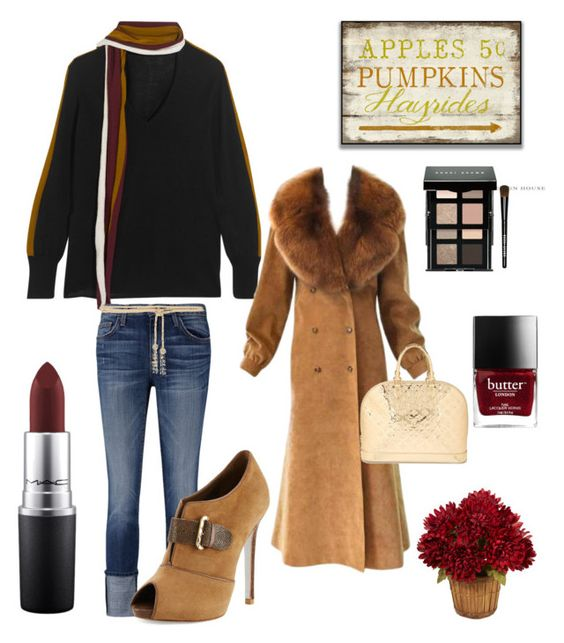 """All ready for FALL"" by kotnourka ❤ liked on Polyvore featuring Tomas Maier, Current/Elliott, René Caovilla, Valentino, Louis Vuitton, Bobbi Brown Cosmetics and MAC Cosmetics"