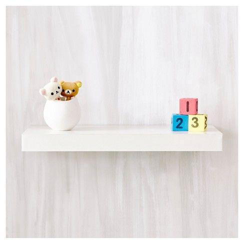 Way Basics 24 Eco Wall Shelf Floating Shelf Natural White Formaldehyde Free Lifetime Guarantee Floating Wall Shelves Wall Shelf Decor Floating Shelves