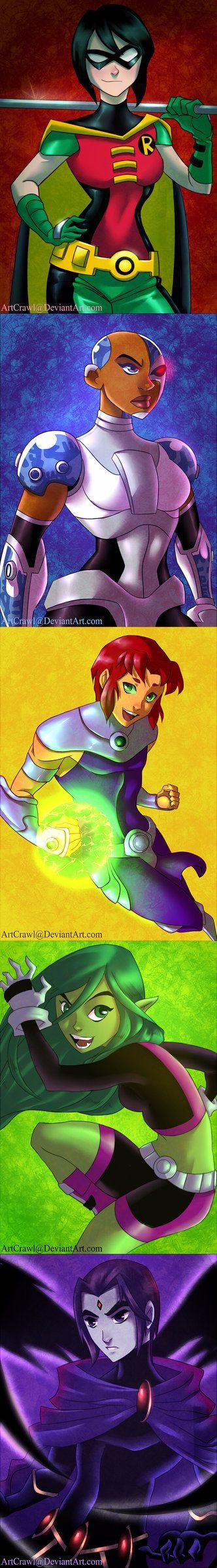 Teen Titans: Gender Bend by ArtCrawl on DeviantArt