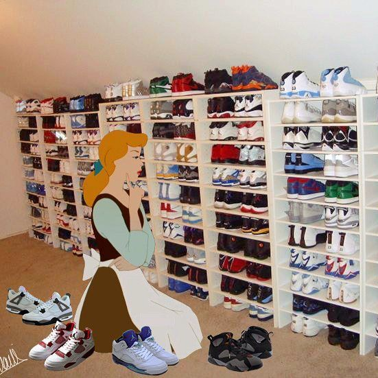 Sneakers collection - Cinderella in her closet by ©Martinails