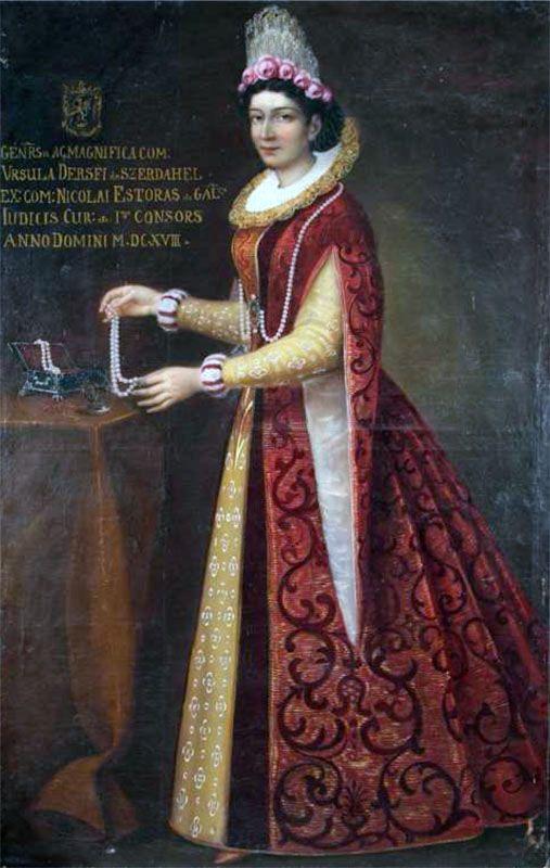 Orsolya Dersffy, first wife of Palatine Nikolaus Esterházy, 1617