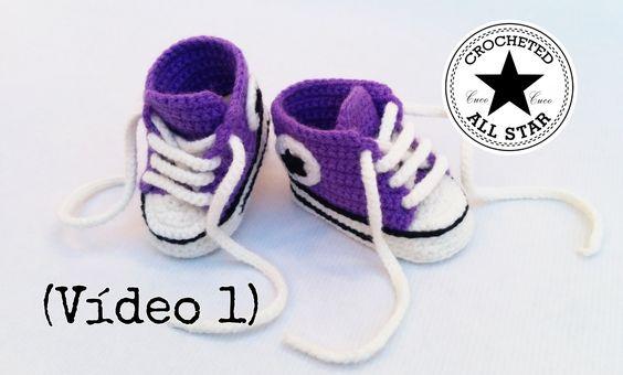 http://wp.me/p4vb1R-gr Aprende a realizar estos divertidos patucos para bebé que simulan a las zapatillas Converse All Star. El tutorial completo consta de 4...