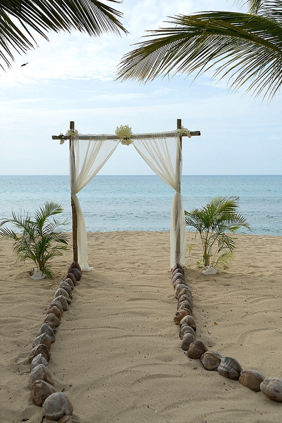 Beach Wedding Ideas - Gold & Champagne, Glam Beach | Destination Vow Renewal in Antigua: Sonia & Chris