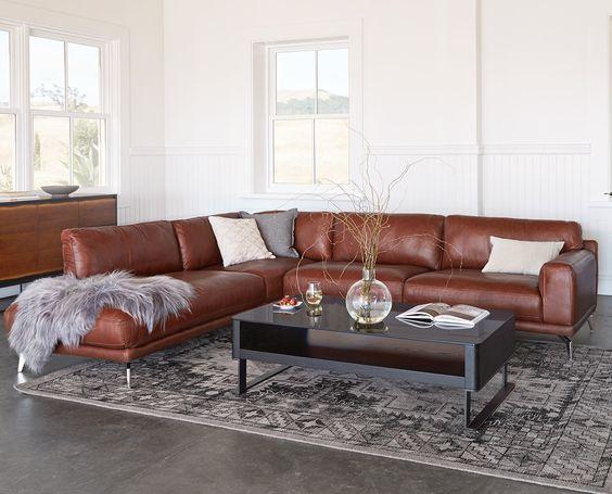 Phòng khách tươi mới ấn tượng cùng sofa góc nhập khẩu