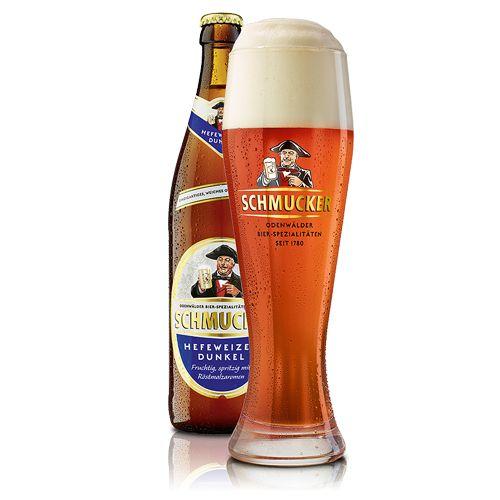 Bia Schmucker Hefeweizen Dunkel 5% - Chai 500ml