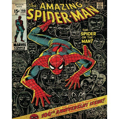 Marvel Spider Man 100th Anniversary Vintage Advertisement On Canvas Comic Book Superheroes Spiderman Poster Spiderman Comic Books