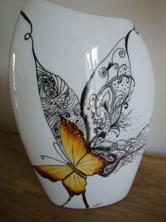 papillon foul porselein zwart wit pinterest album photos et papillons. Black Bedroom Furniture Sets. Home Design Ideas