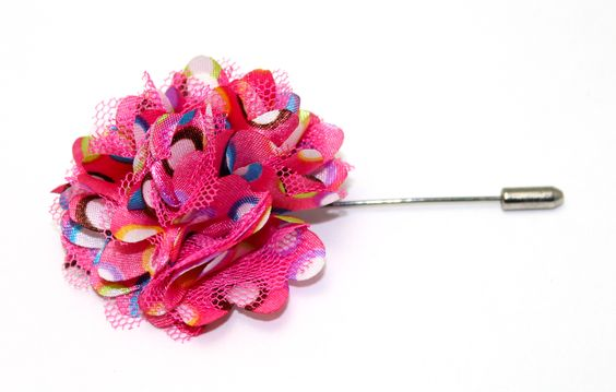 Gum splash lapel flower #lapelpin #lapelflower #dappercloset