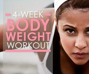 Start the Skinny Ms. 4-Week Body Weight Workout Plan today!  It is FREE!  #bodyweight #workoutplan
