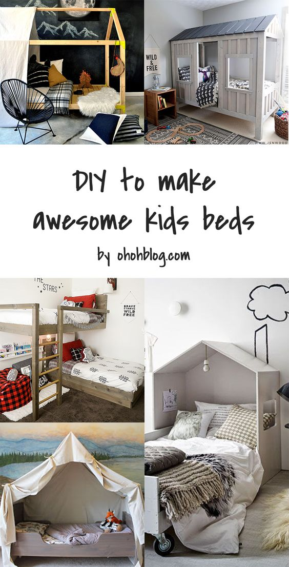 5 DIY to try # Kids beds: