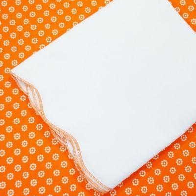 Oliver B 2-Piece Scallop Crib Bedding Set in Orange-Burst - buybuyBaby.com