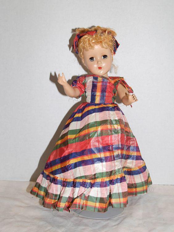 "R&B Arranbee Nannette Nanette  Doll in Original Taffeta Gown 14"" Tall"