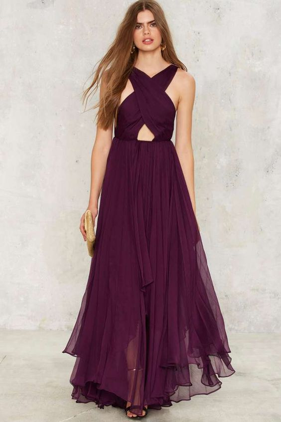 Nasty Gal Collection Purple Reina Maxi Dress - Sale: Newly Added ...