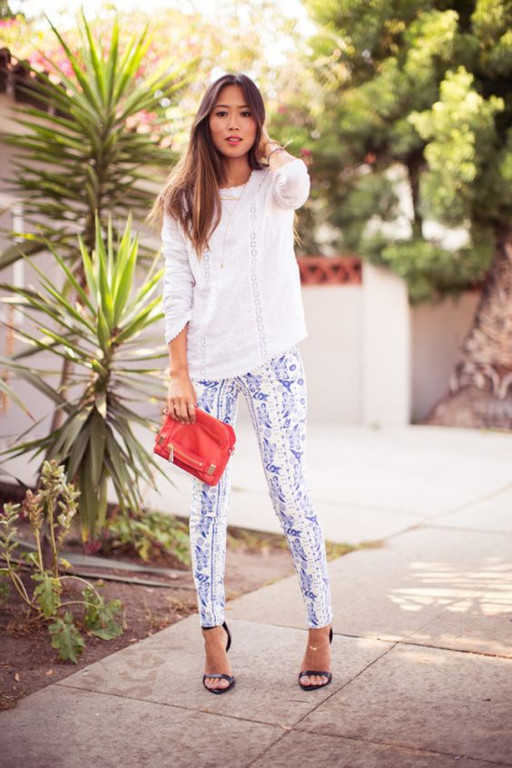 Awesome Printed Jeans Outfits