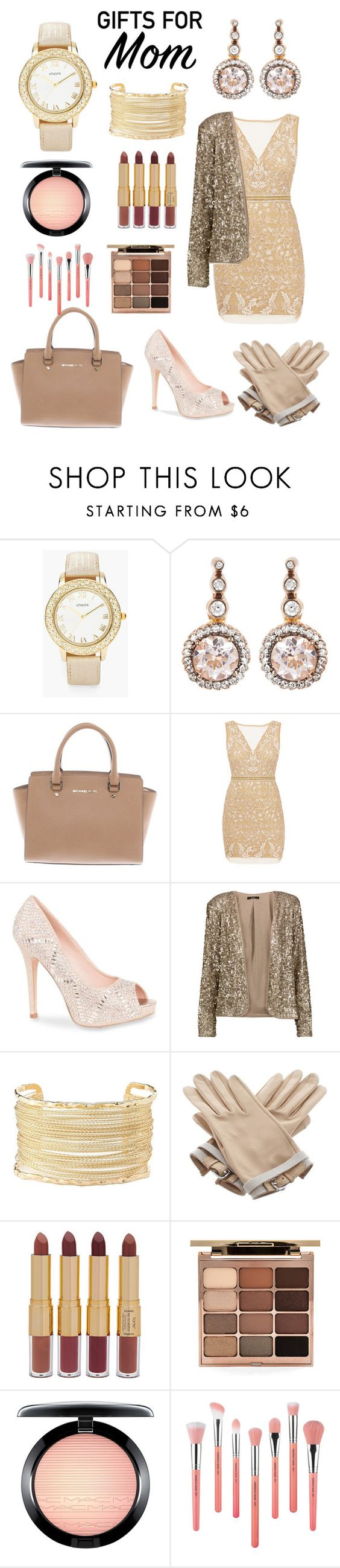 """""""love you MOM"""" by lodonroxylove ❤ liked on Polyvore featuring Chico's, Selim Mouzannar, Michael Kors, Nicole Miller, Lauren Lorraine, Tart, Charlotte Russe, Hermès, tarte and Stila"""