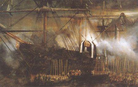 Le retour des Cendres sur la Belle-Poule (tableau d'Isabey, musée de Versailles)