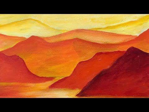 Easy Monochromatic Painting Youtube Monochromatic Art