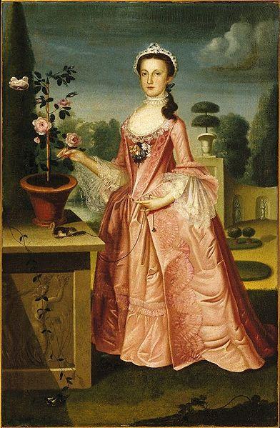"""Deborah Hall"", William Williams, ca. 1766; Brooklyn Museum 42.45:"