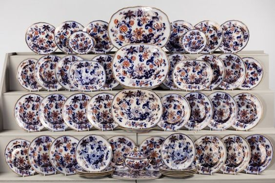 Late 19th Century Staffordshire Part Dinner Service (Ref No. 7145) - Windsor House Antiques