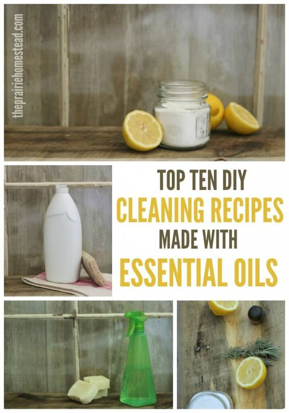top ten proven DIY cleaning recipes made with essential oils                                                                                                                                                     More