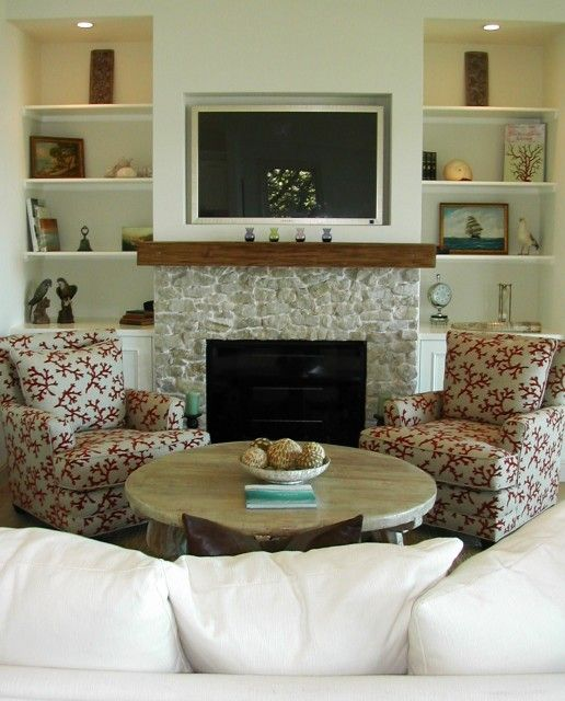 Fireplace Half Stone Half Wall Fireplace Makeover