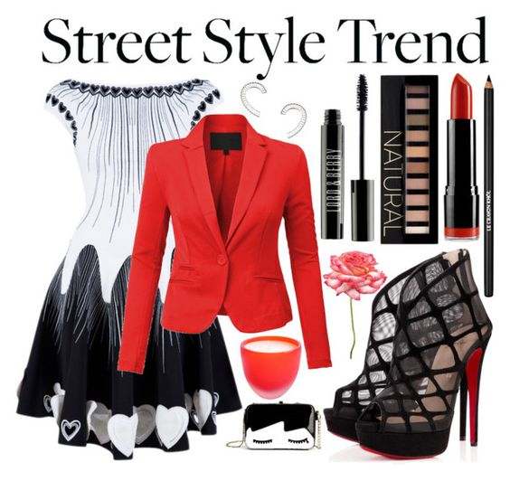 Street Style Trend: Mini Dress by cherie-vohra on Polyvore featuring PINGHE, Christian Louboutin, Yael Salomon, Forever 21, Lord & Berry, NYX, Lancôme, Arcade Vitrum and minidress